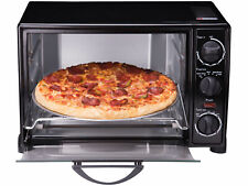 """Toaster Oven Large 6-Slice 12"""" Pizza Capacity Stainless Steel, Broiler, Black"""