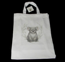 Australian Souvenir Koala 100% Cotton Tote Bag Little Aussie Friends Collection