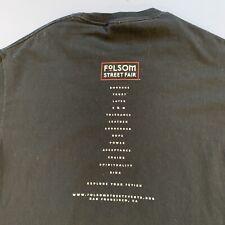 Vtg San Francisco Folsom Street Fair Tee Shirt 90s 00s Black M Gay Interest