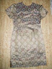 ORIGINAL Brocado Vestido der AÑOS 60 jahre-cocktailkleid 38/40