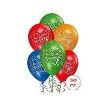 Palloncini compleanno festa party animazione bombola elio lattice bambini 50 pz