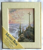 Thomas Kinkade SUNRISE Cross Printed Memo Paper Note Box Scripture John 3:16 New
