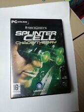 TOM CLANCY'S SPLINTER CELL CHAOS THEORY Gioco PC DVD Italiano Nuovo Mai Usato