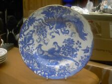 Royal Crown Derby Blue Aves Desert Plate 1998 In V.G.C. 2nd Quality  Free UK P&P
