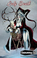 "Lady Death Lingerie #1 ""Infernal Holidaze""   METAL COVER    Ltd. 35 Comic Book"