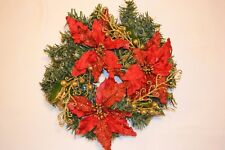 CLEARANCE Christmas Wreath DIY garland decoration poinsettia cinnamon berries