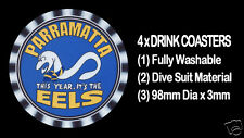 4  x EELS PARRAMATTA RUGBY LEAGUE - THIS YEAR IT'S THE EELS -  DRINK COASTERS