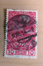 10 Heller Austria Emperor Franz Joseph 1914 sello con sello