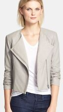Auth NWT. Veda 'Dali' Leather Jacket Size Large $898. SMOKE