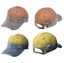True Religion Men's Metallic Logo Denim Sports Hat Baseball Strapback Cap