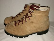 Vtg VASQUE Mountaineering Hiking BOOTS Split Cowhide Vibram Sole Leather US 9
