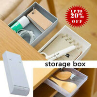 Punch Free Under-The-Table Drawer Home Storage Box White Transparent Gray 2020