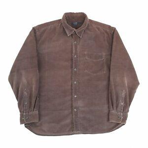 Vintage Corduroy Shirt Brown L Long Sleeve