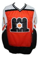 Any Name Number Size Maine Mariners Retro Custom Hockey Jersey Orange