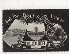 Just The Right Spirit Here At Southsea 1963 RP Postcard 802a