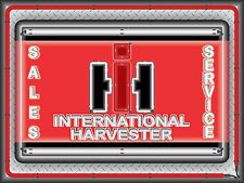 INTERNATIONAL HARVESTER TRACTOR MARQUEE NEON STYLE PRINT BANNER SIGN ART 4' X 3'