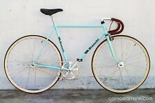 Bianchi Sprint 28t Celeste fixed gear, refurbished, genuine leather