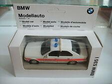 Gama BMW 535i Notruf 112 in White/Orange on 1:43 in Box