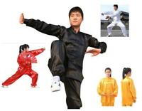 (USA)110-190cm Chinese Wing Chun Kung Fu Suits Martial Clothes Tai Chi Taijiquan