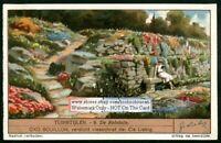 Ornamental Rock Garden PRETTY 1930s Trade Ad Card