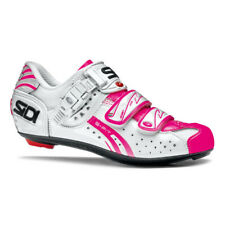 Sidi Genius Fit Women's Carbon Cycling Shoes White/Pink Fluo