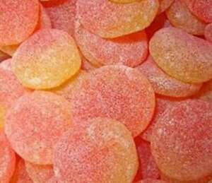 HARIBO  GIANT PEACH SLICES  ideal for party bags, wedding, christening,