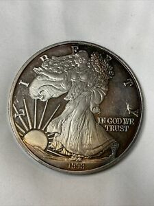 1993 American Eagle USA Liberty One Troy Pound .999 Fine Silver Coin