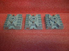 Lot Of 3 Potter Brumfield 27e123 Cube Relay Bases 11 Pin Round 10a 300v Used