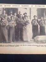 A2-3 Ephemera 1943 Picture St Dennis T J V Solomon Miss R E Sellick Plympton Wed