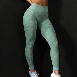 Fitness Pants Women Leggings Camouflage Womens Workout High Waist Flexible Yoga