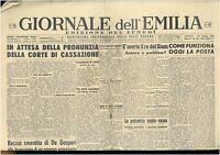 GIORNALE DELL'EMILIA 10 GIUGNO 1946 GIORNALI DELLA REPUBBLICA