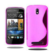 Línea S Wave Gel de silicona teléfono caso cubierta para HTC Desire 500 + Protector De Pantalla
