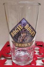 ROCK BOTTOM IRVING, CA. BOGIE BOGEY BROWN GLASS ( CAT J909)