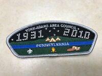 York Adams Area Council 2010 Anniversary CSP