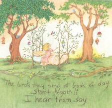 Birds Sing At Break Of Day Trees-Handcrafted Fridge Magnet-W/Mary Engelbreit art