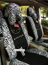 2017 new cute Hello Kitty black car seat cover 10 pcs