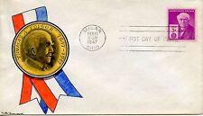 FDC / FIRST DAY COVER / MILAN / OHIO / THOMAS EDISON / NEW YORK / VICHY 1947