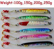 Set of 6 Knife Vertical Butterfly Fishing Jig 100g 150g 200g 250g SELECT WEIGHT