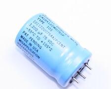 2x 1200uF 75V Large Can Electrolytic Aluminum Capacitor 1200MFD 75VDC 105C
