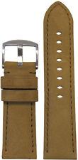 26mm Panatime Cork Soft Calf Leather Watch Band w Match Stitching 26/24 125/75