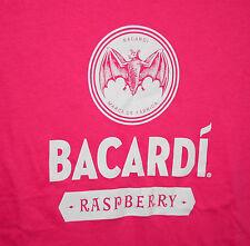 Bacardi Raspberry Rum Pink Cotton Blend Womens Bat T-Shirt New Size Medium