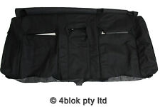 VZ Crewman Rear Seat Back Cover Black Holden Commodore  Leather Genuine