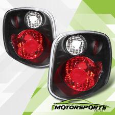 2001 2002 2003 Ford F-150 FlareSide Black Rear Brake Tail Lights Pair