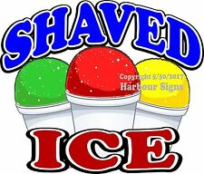Shaved Ice Decal (Choose Your Size) Concession Food Truck Sign Sticker