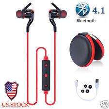 Bluetooth 4.1 Headset Wireless Sport Stereo Earphone Earbuds Headphone Case US