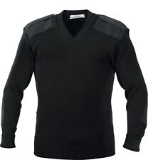 Rothco G.i. Style Acrylic V-neck Sweater Black 5xl