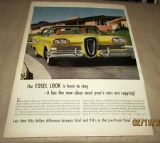 Edsel-1958-{Original Old Car Ad-06/30/1958}-<'58 Model>