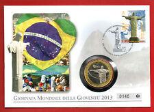 """1x Numisbrief """"Vatikan- Papst Franziskus in Brasilien"""" mit Medaille!"""