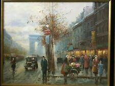 Vintage French Impressionist Oil Painting Listed Artist T. E. Pencke
