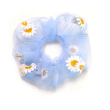 Women Embroidered Daisy Hair Scrunchies Ponytail Holder Elastic Hair  Ties Rope